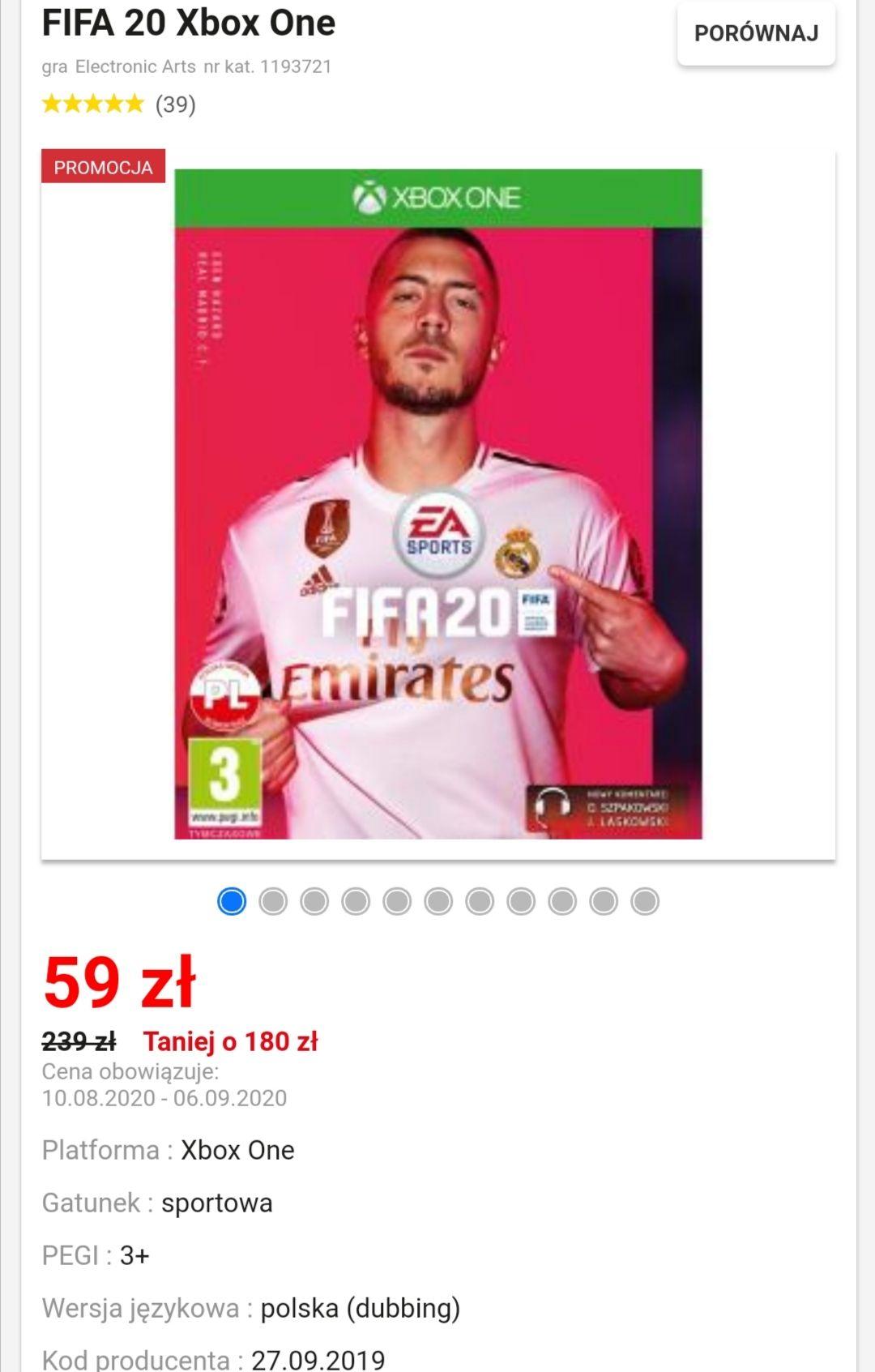 Fifa 20 edycja standardowa - EuroRTV Xbox One