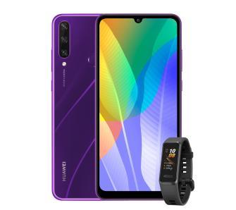 Smartfon Huawei Y6p (fioletowy) + Opaska Huawei Band 4