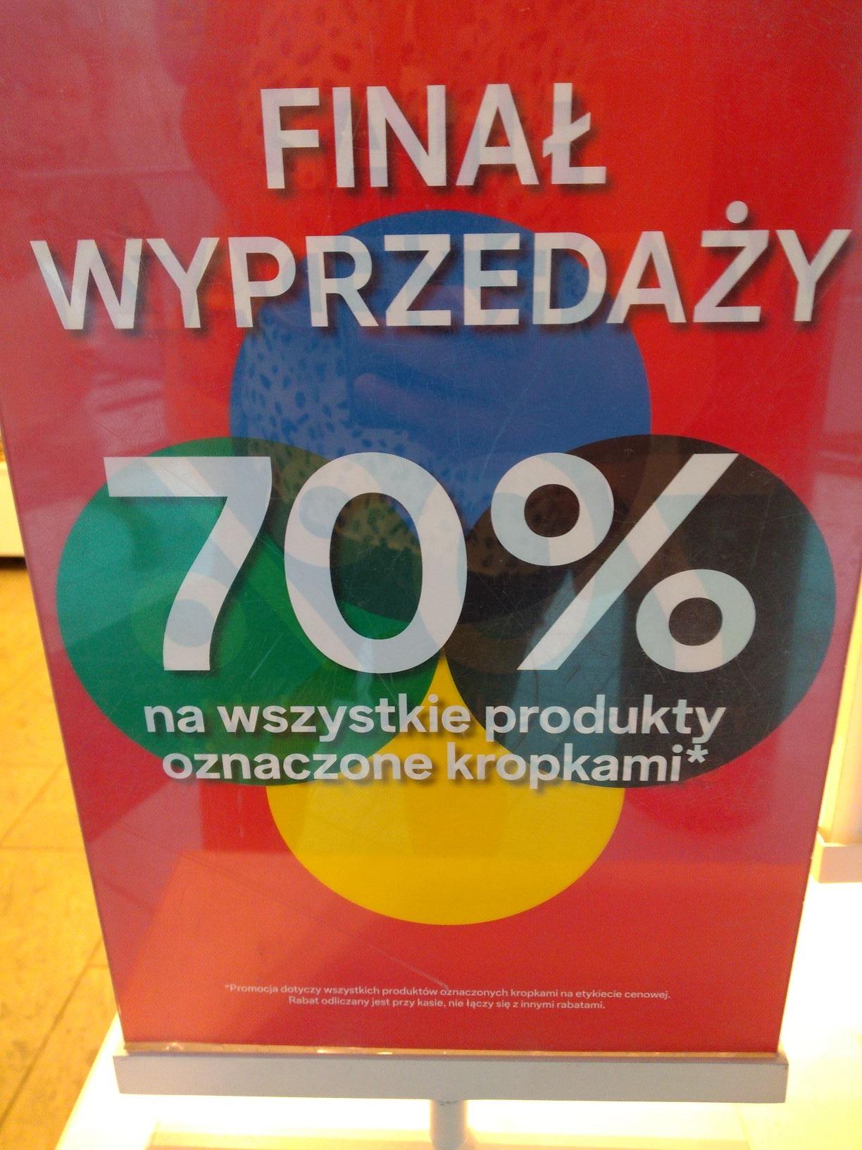 Finał wyprzedaży -70% C&A
