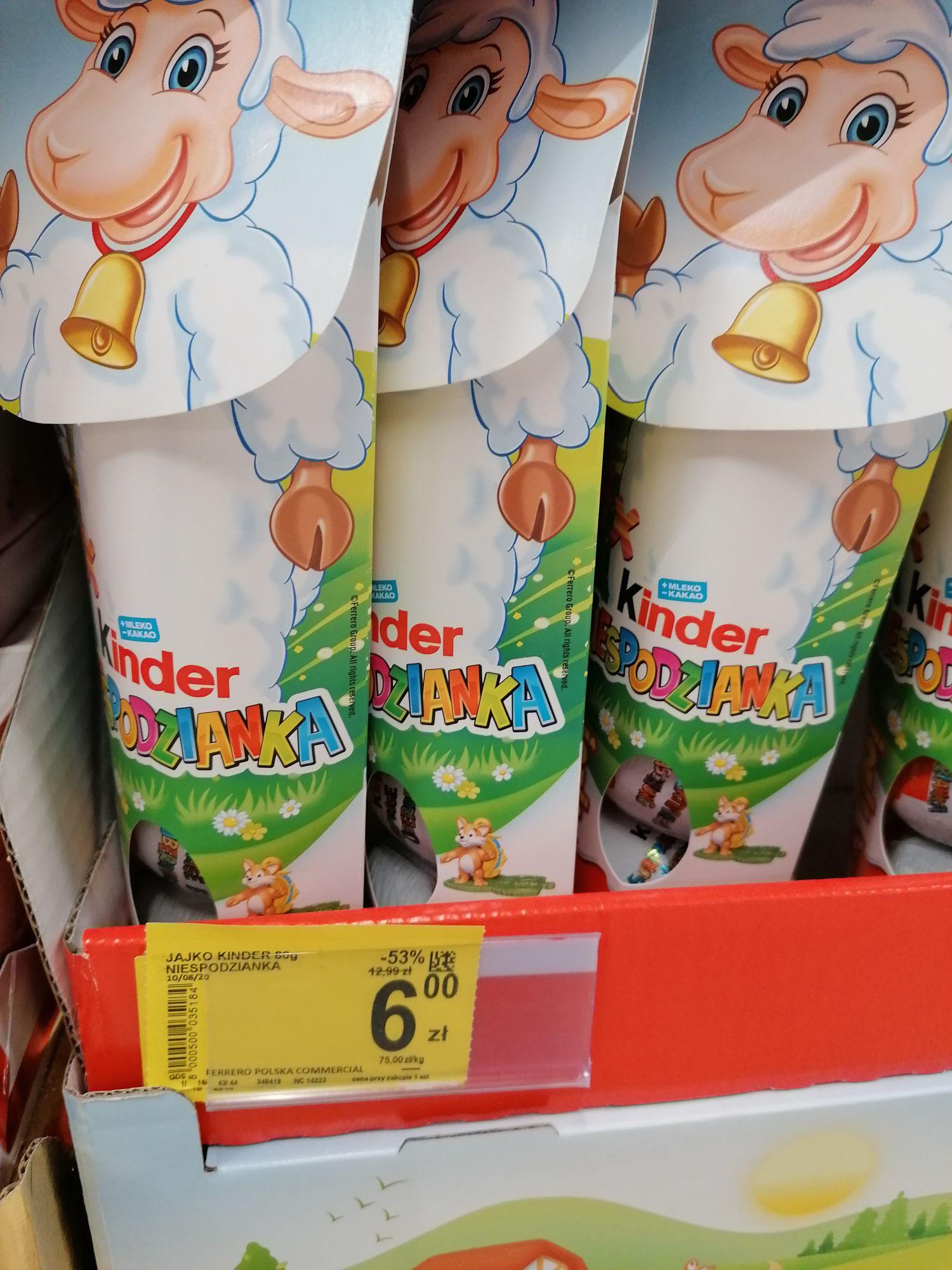 Kinder Niespodzianka - zestaw 4 jajek za 6 złotych
