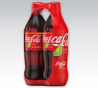 Napój gazowany Coca Cola Lime, 2x1 l @ Biedronka