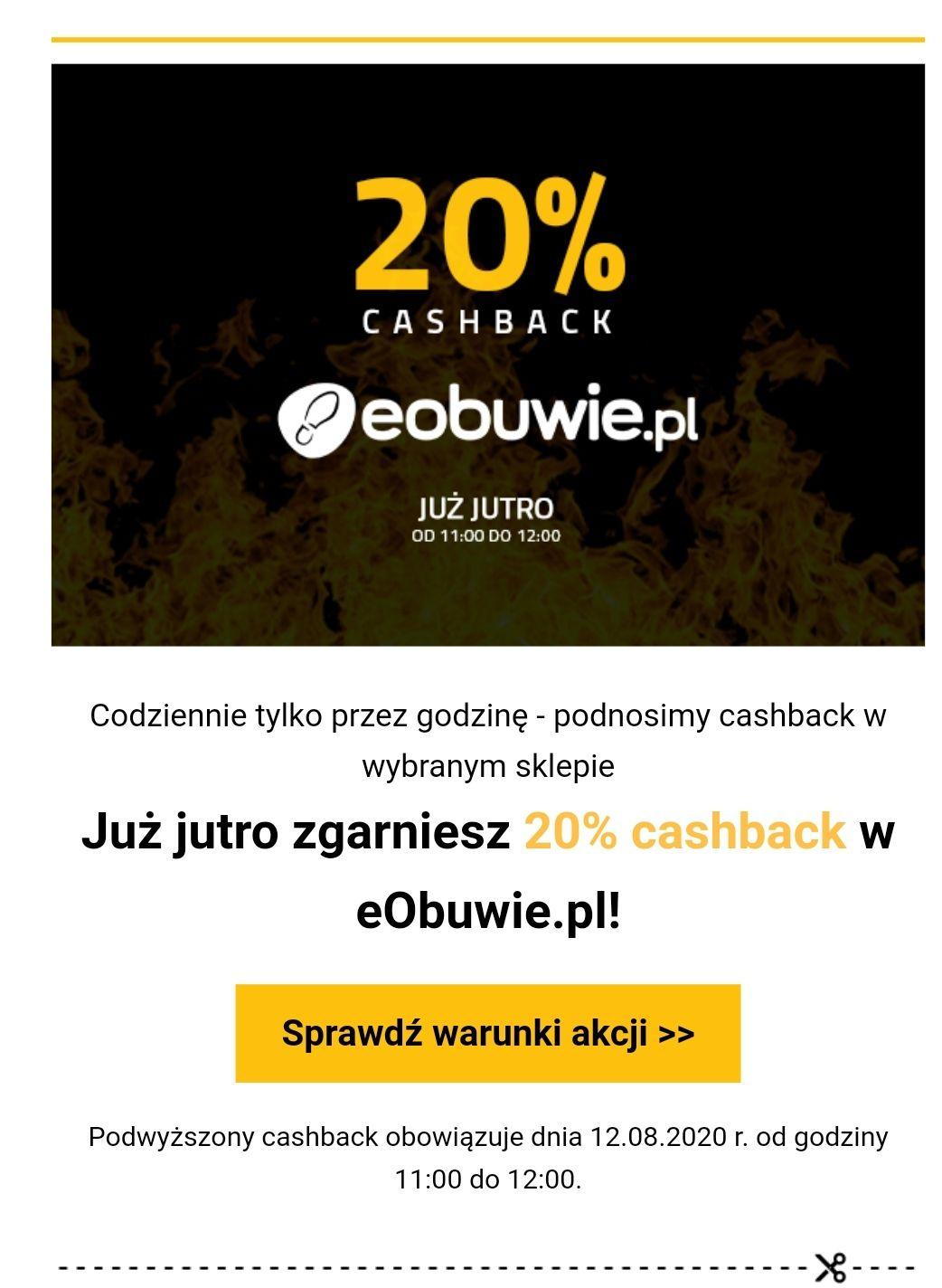 Eobuwie cashback 20% planetplus