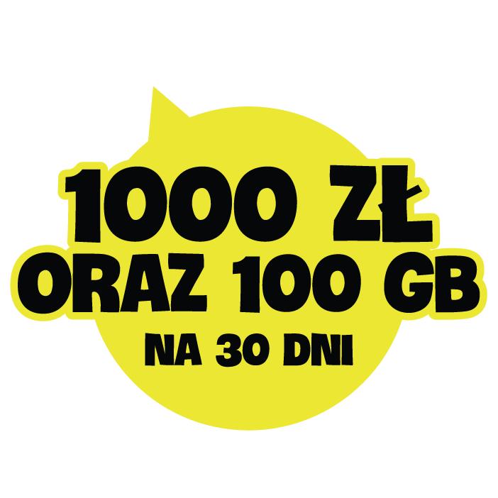 Nju na karte - 1000zł na usługi oraz 100GB za rejestrację karty