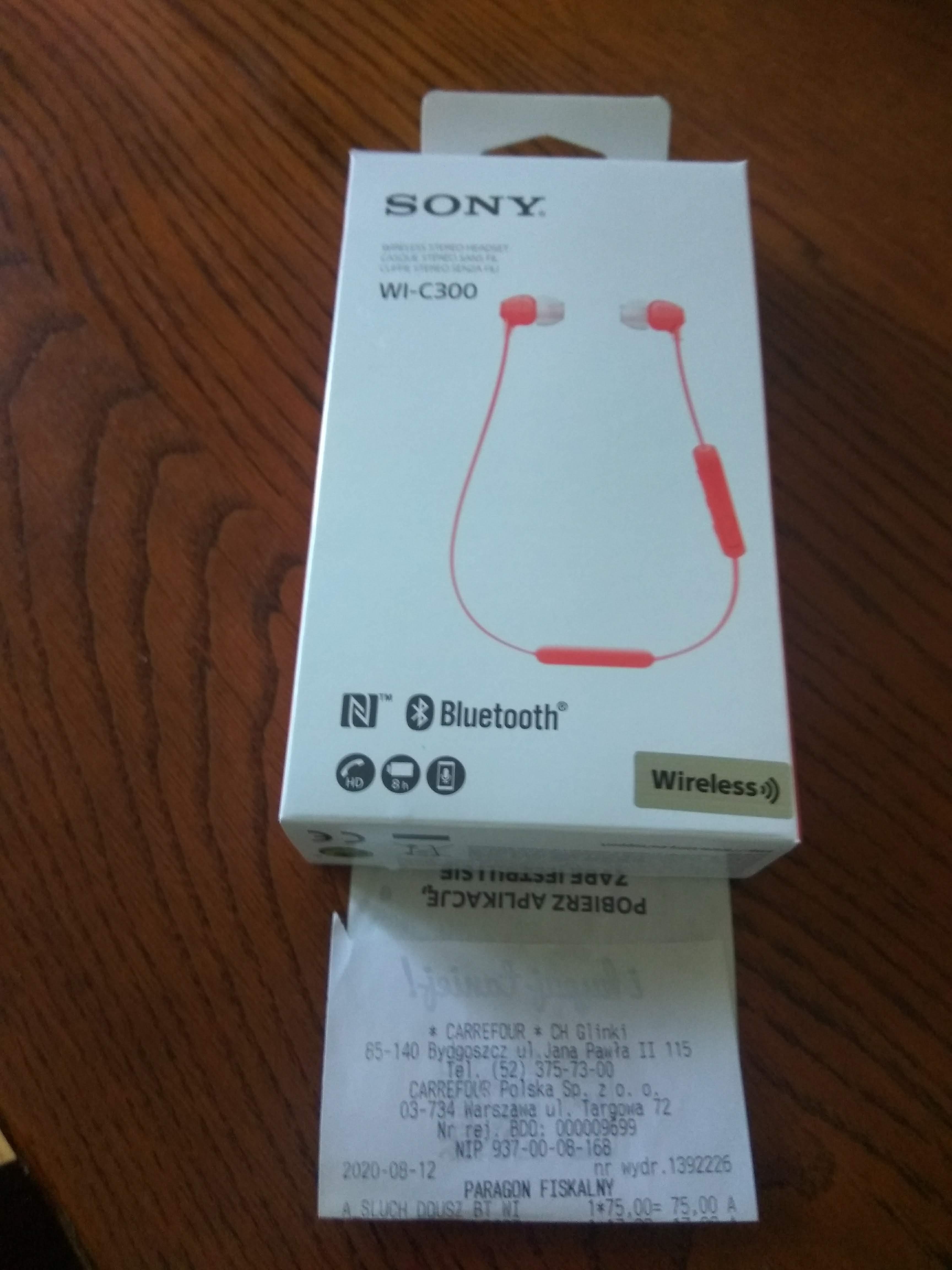 Słuchawki Bluetooth Sony Wi-C300