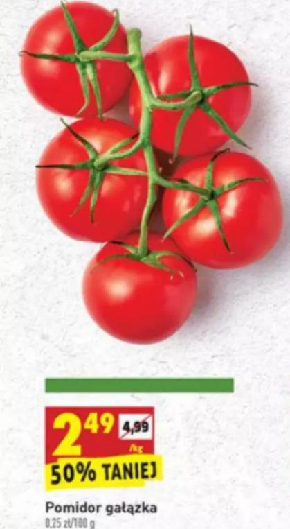 Pomidory na gałązce 1kg. Biedronka