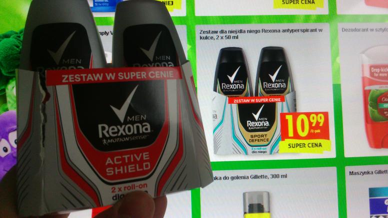 Antyperspirant w kulce Rexona 2x50 ml @Biedronka