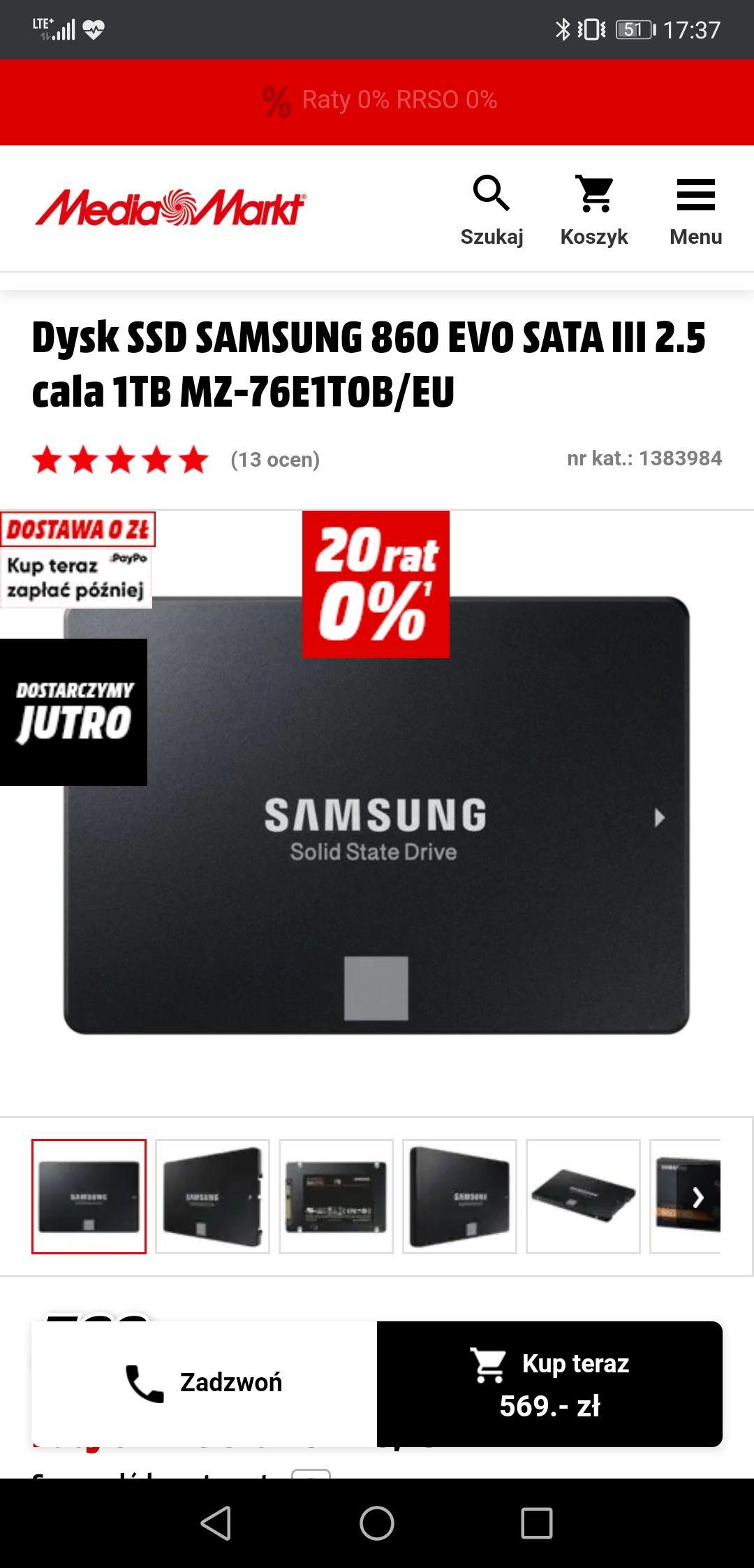 Dysk SSD Samsung 860 EVO 1Tb