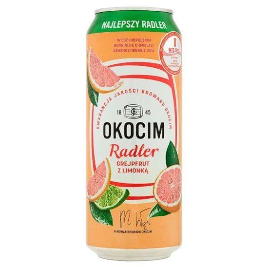 Czteropak Okocim radler smak grejpfrut limonka InterMarche
