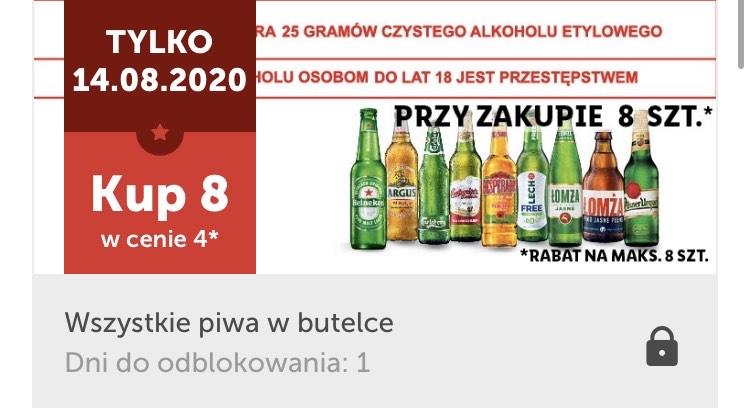 Lidl. 8 piw butelkowanych w cenie 4