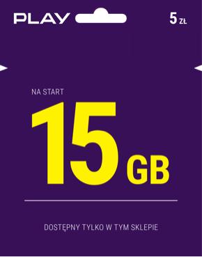 Starter Play 15GB na start (tylko Żabka)
