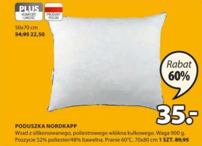 Poduszka Nordkapp 70x80cm. Dodatkowy rabat -10% na całe zakupy. Jysk