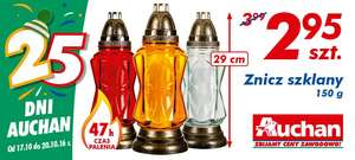 Znicz szklany 150 g @Auchan