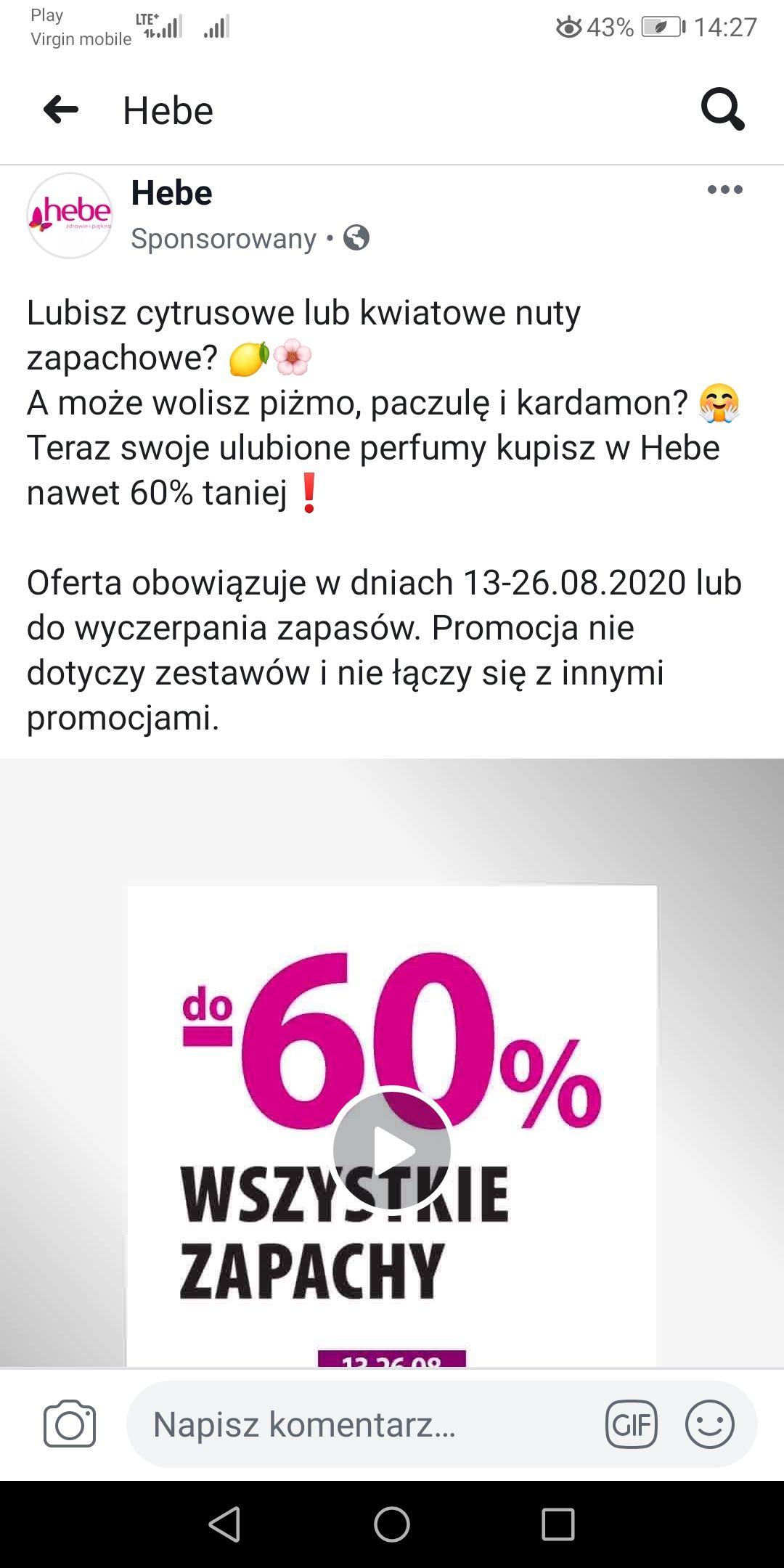 HEBE - perfumy do -60%