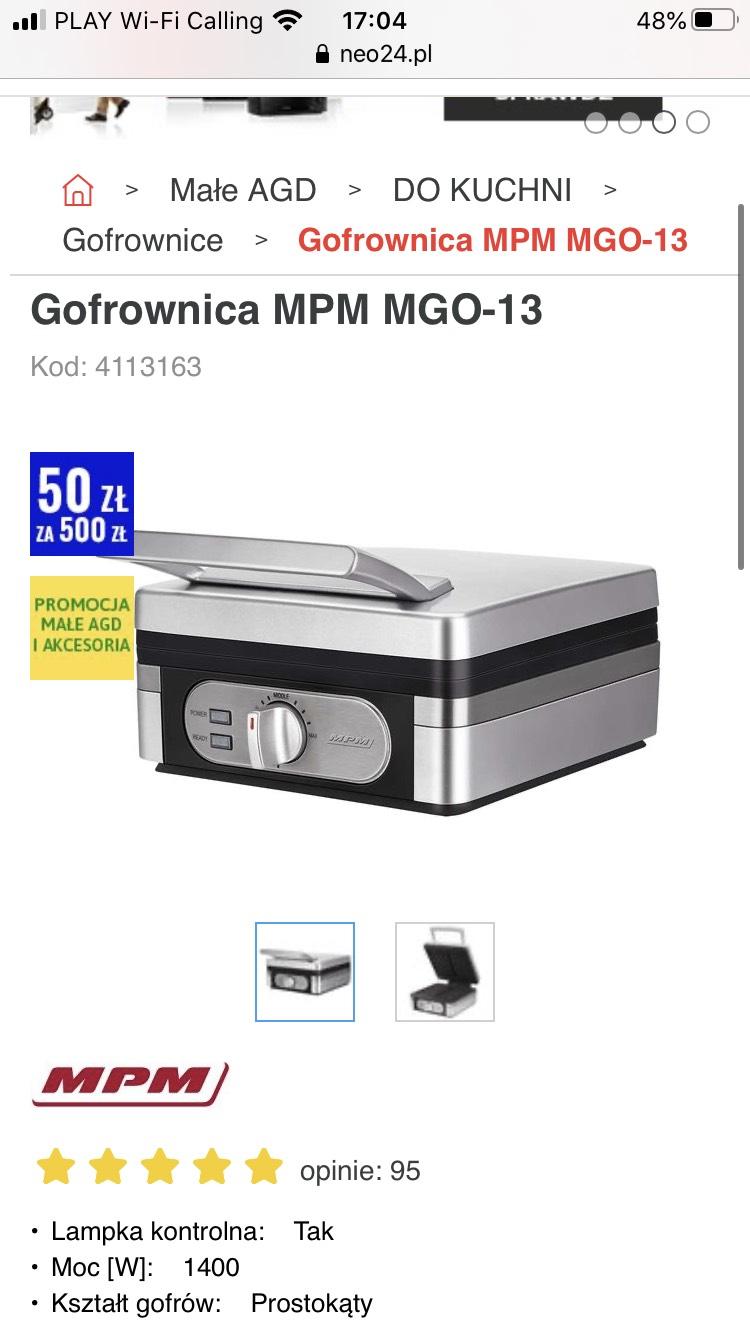 Gofrownica MPM MGO-13 1400W