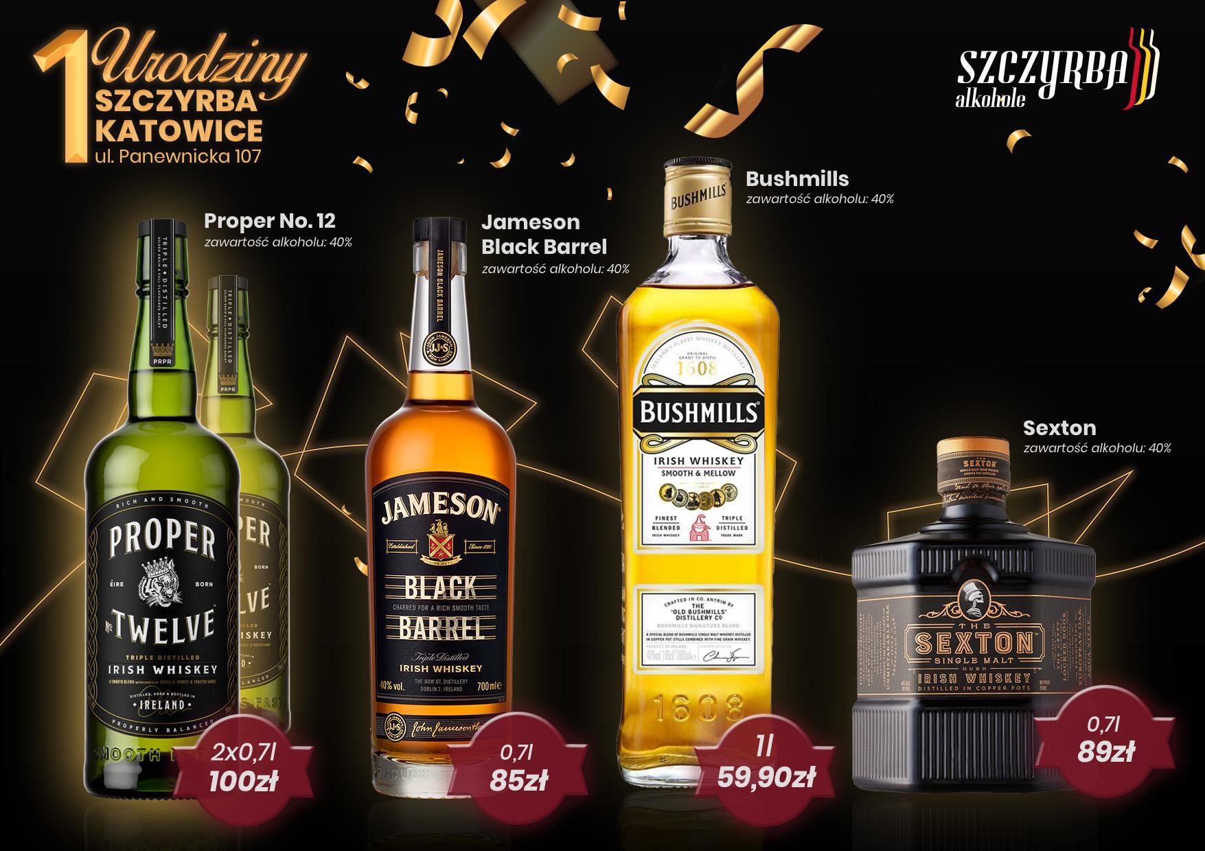 Urodzinowe promocje Szczyrba Katowice - okazja zbiorcza whisky i nie tylko