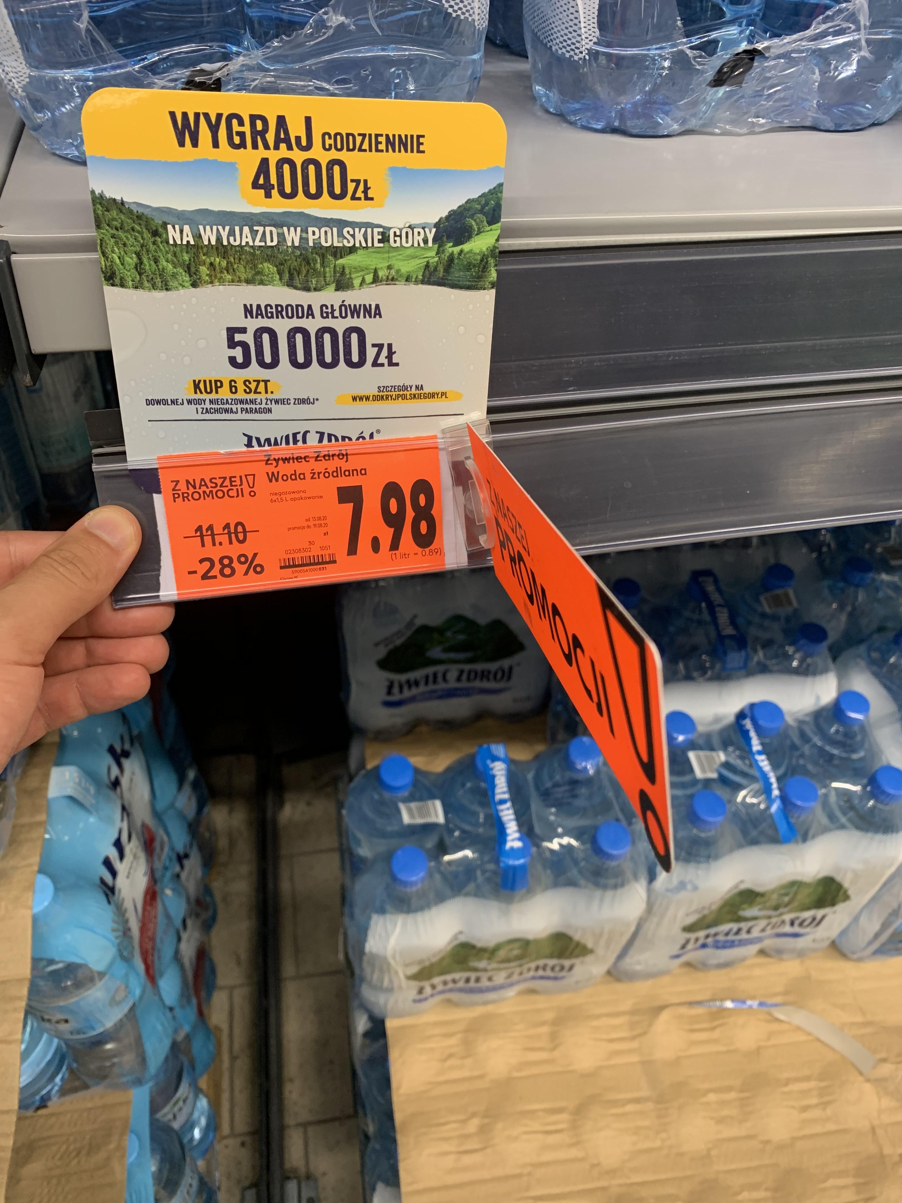 Woda Żywiec Zdrój niegazowana 1,5l przy zakupie 6szt. Kaufland