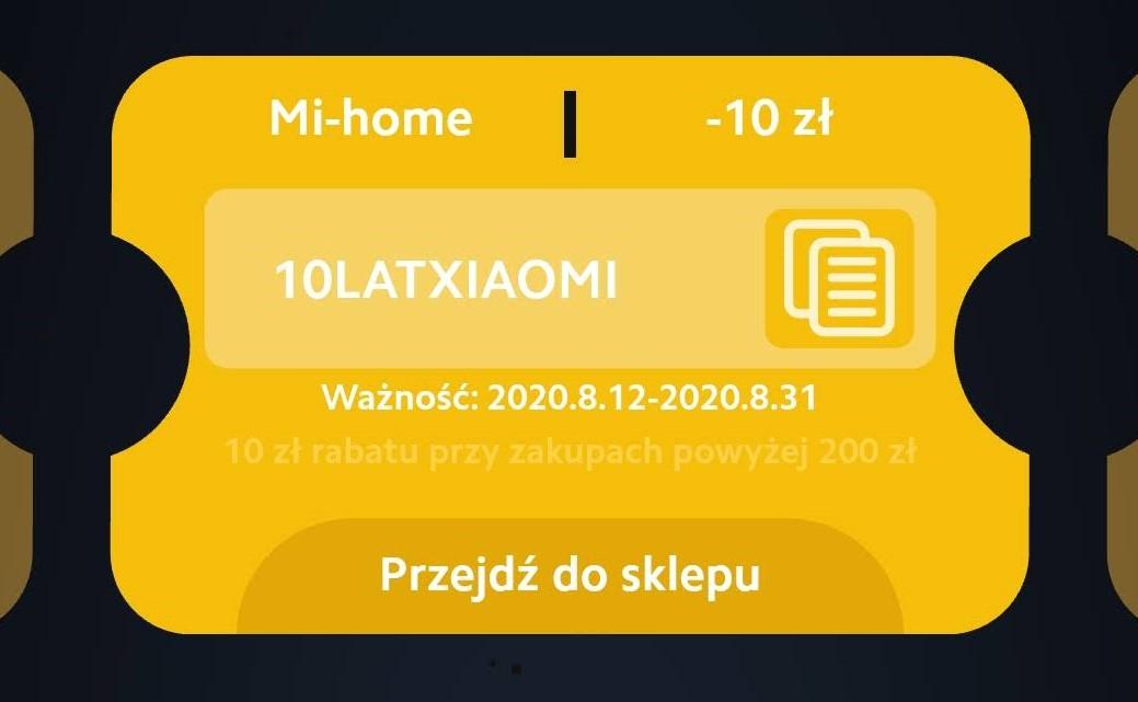 Kupon rabatowy -10 zł w mi-home.pl przy MWZ 200 zł
