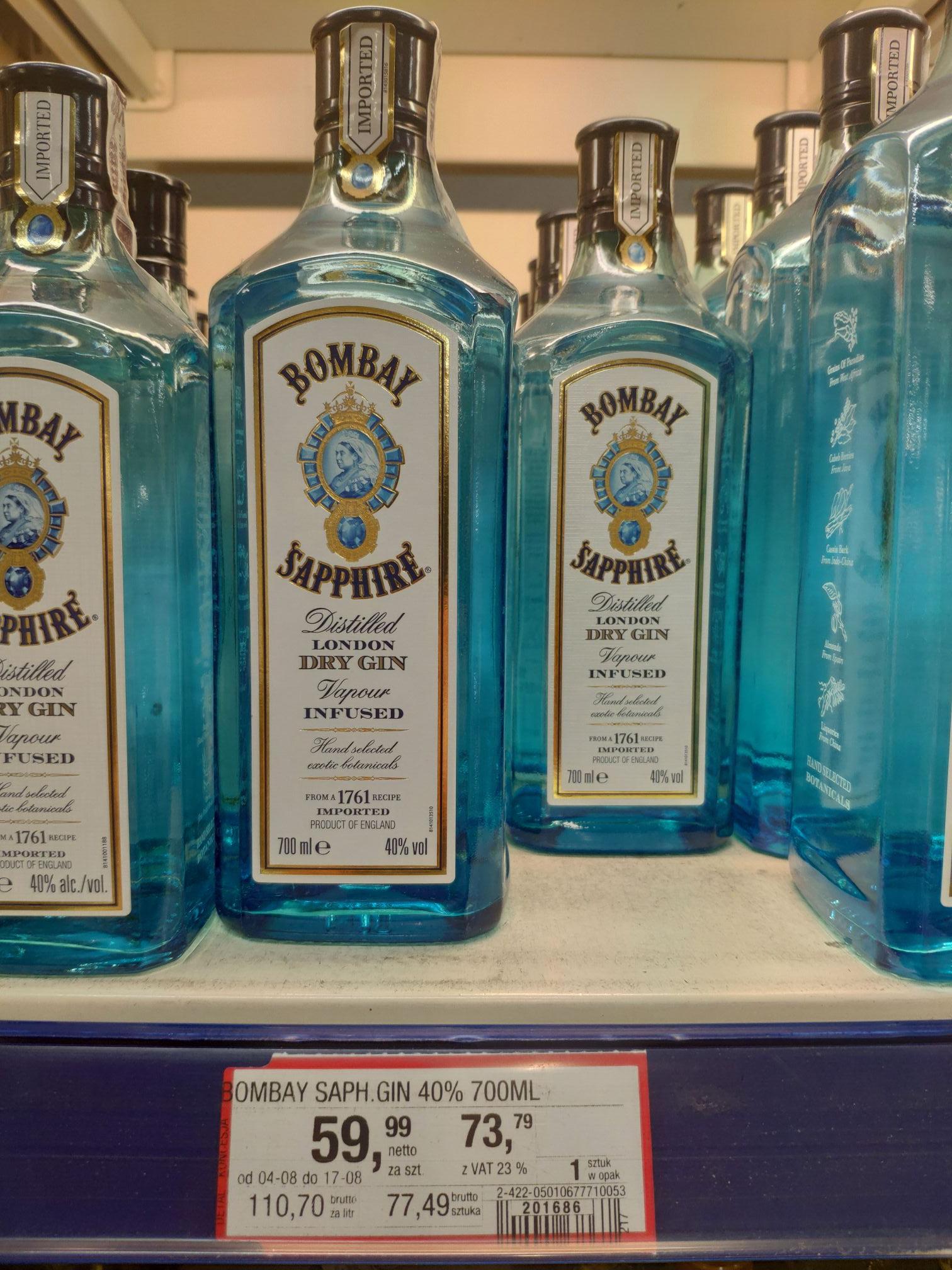 Gin Bombay Sapphire 0.7L