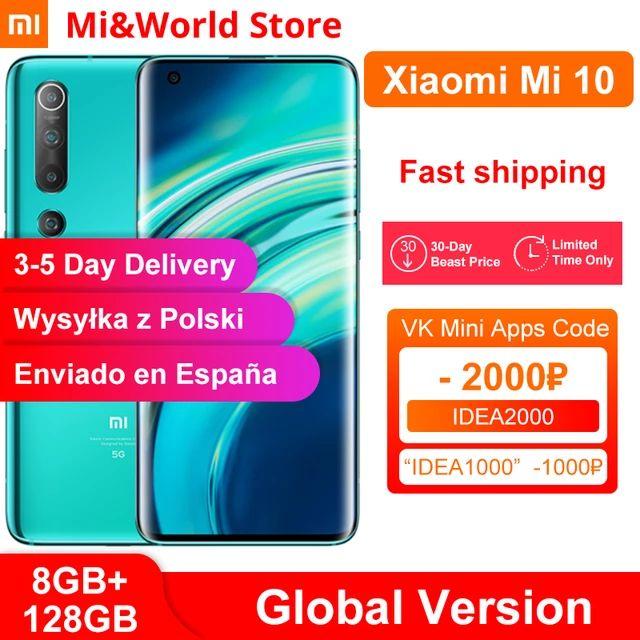 Xiaomi Mi 10 8GB 128GB wysylka z Polski $594.61