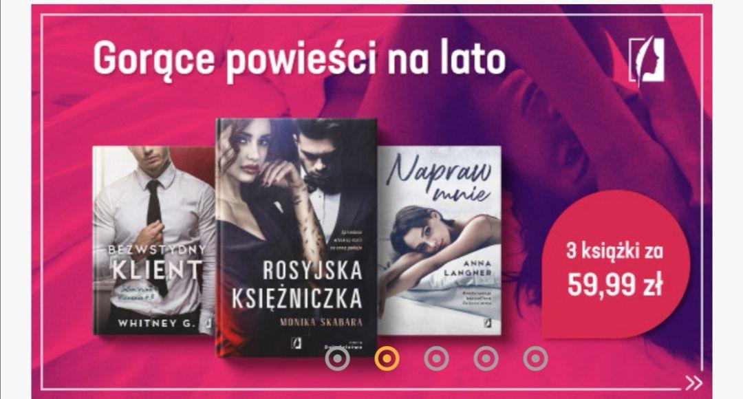 Książki dla kobiet 3 za 59.97 świat książki