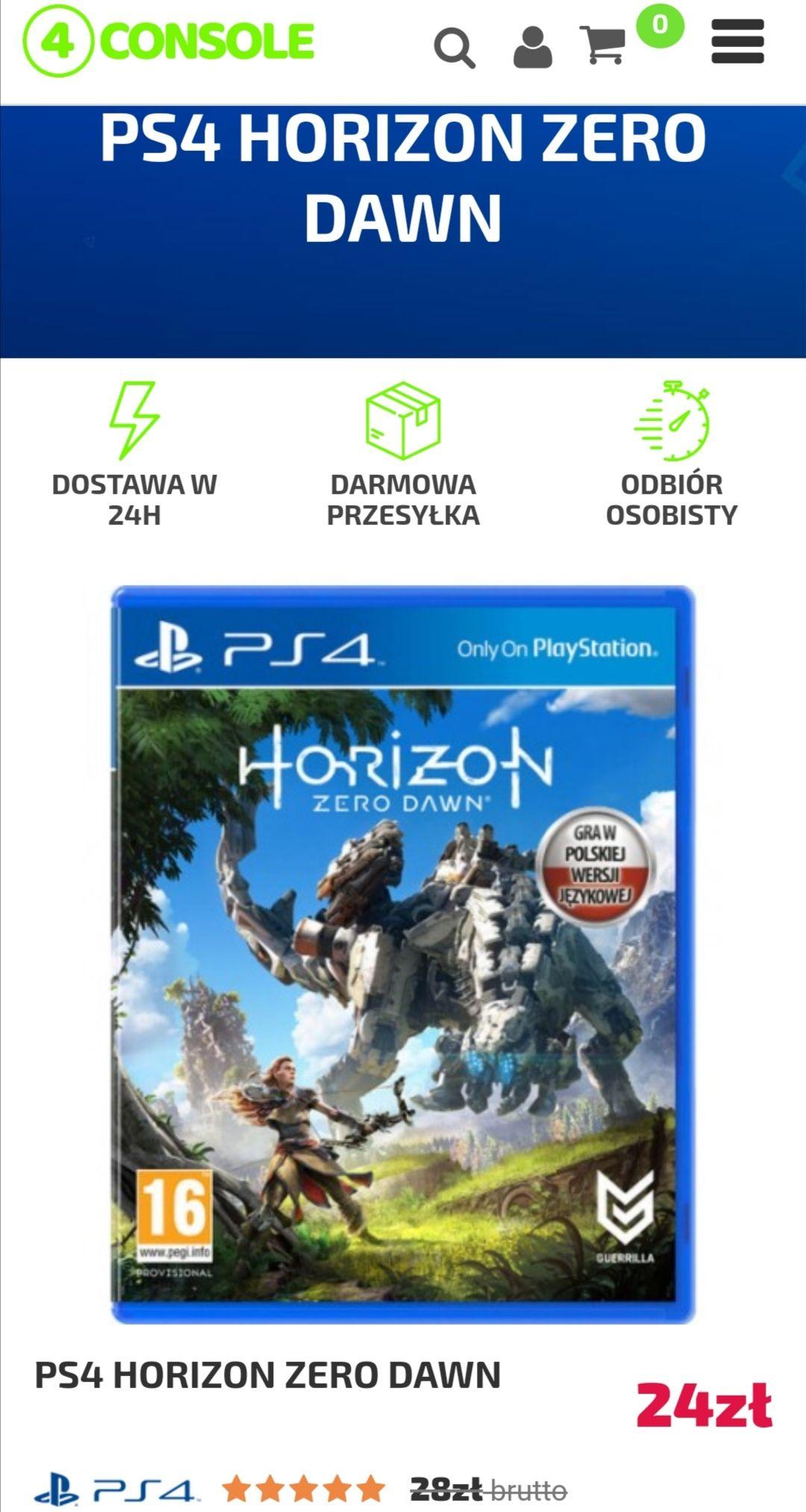 HORIZON ZERO DAWN PS4 PlayStation 4 NAPISY PL