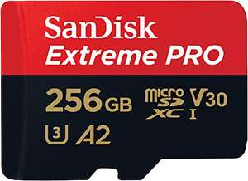 SANDISK EXTREME PRO microSDXC 256GB 170/90 MB/s A2 C10 V30 UHS-I U3