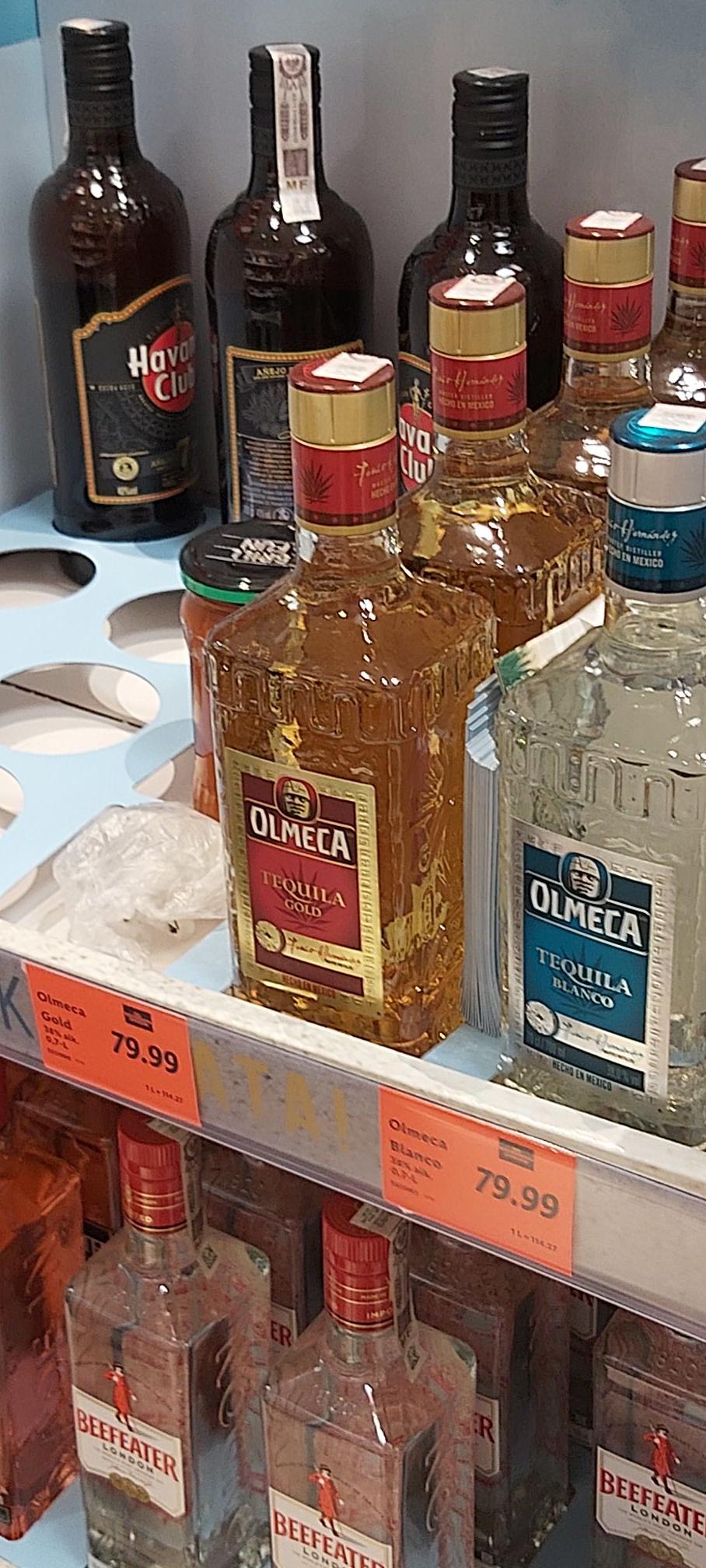 Tequila OLMECA Bianco i Gold Lidl (Gliwice)