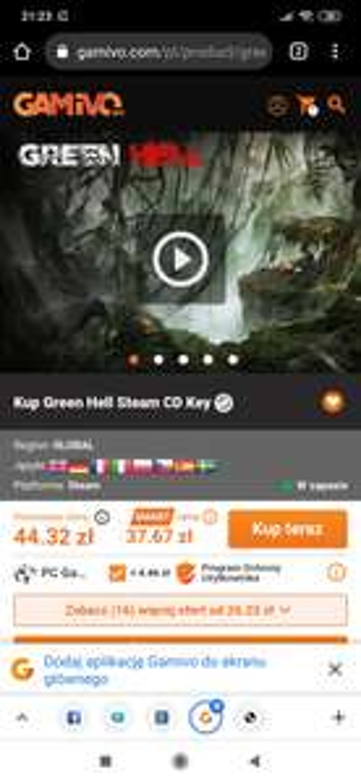 Green Hell za ok. 26,55 zł w GAMIVO