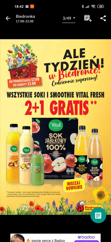 Vital fresh 2 +1 gratis Biedronka