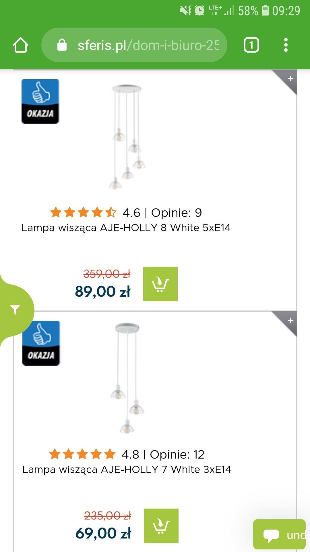 Listwy i lampy wiszące z serii HOLLY, w super cenach.