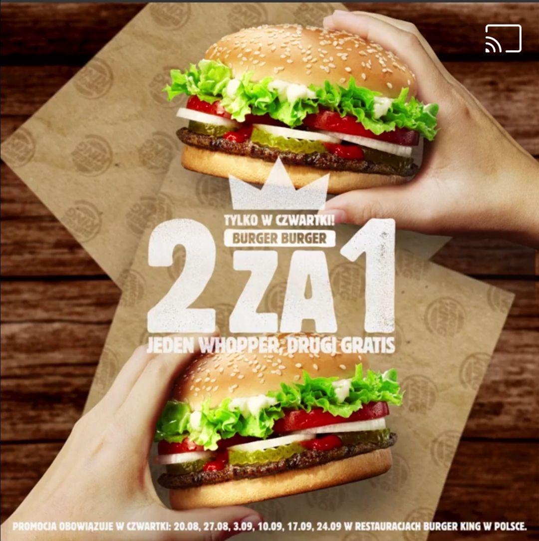 2za1 whopper w Burger King