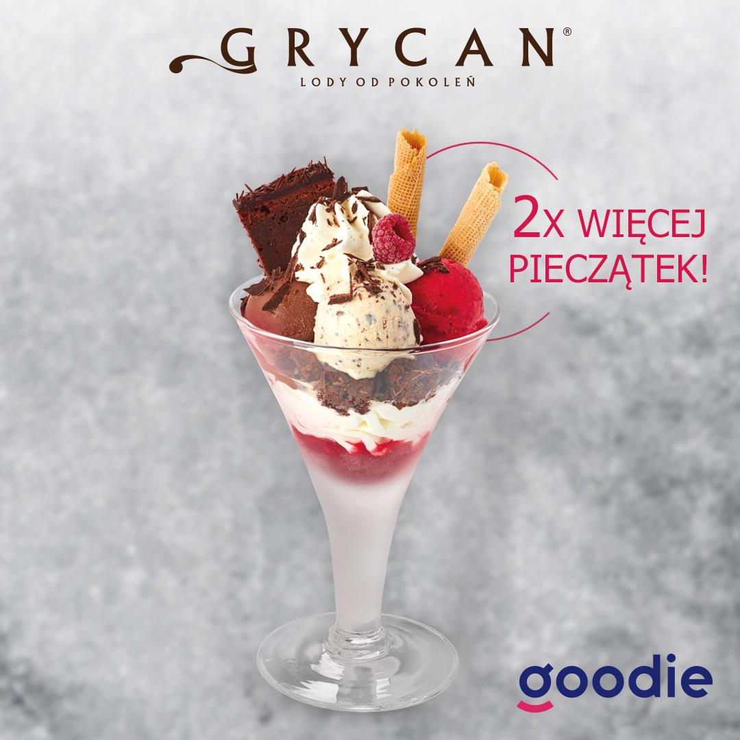 2x więcej pieczątek za desery w Grycan