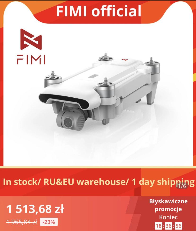 Dron fimi X8SE 2020 (4K kamera z gimbalem, 33min lotu, spory zasięg) $398.64