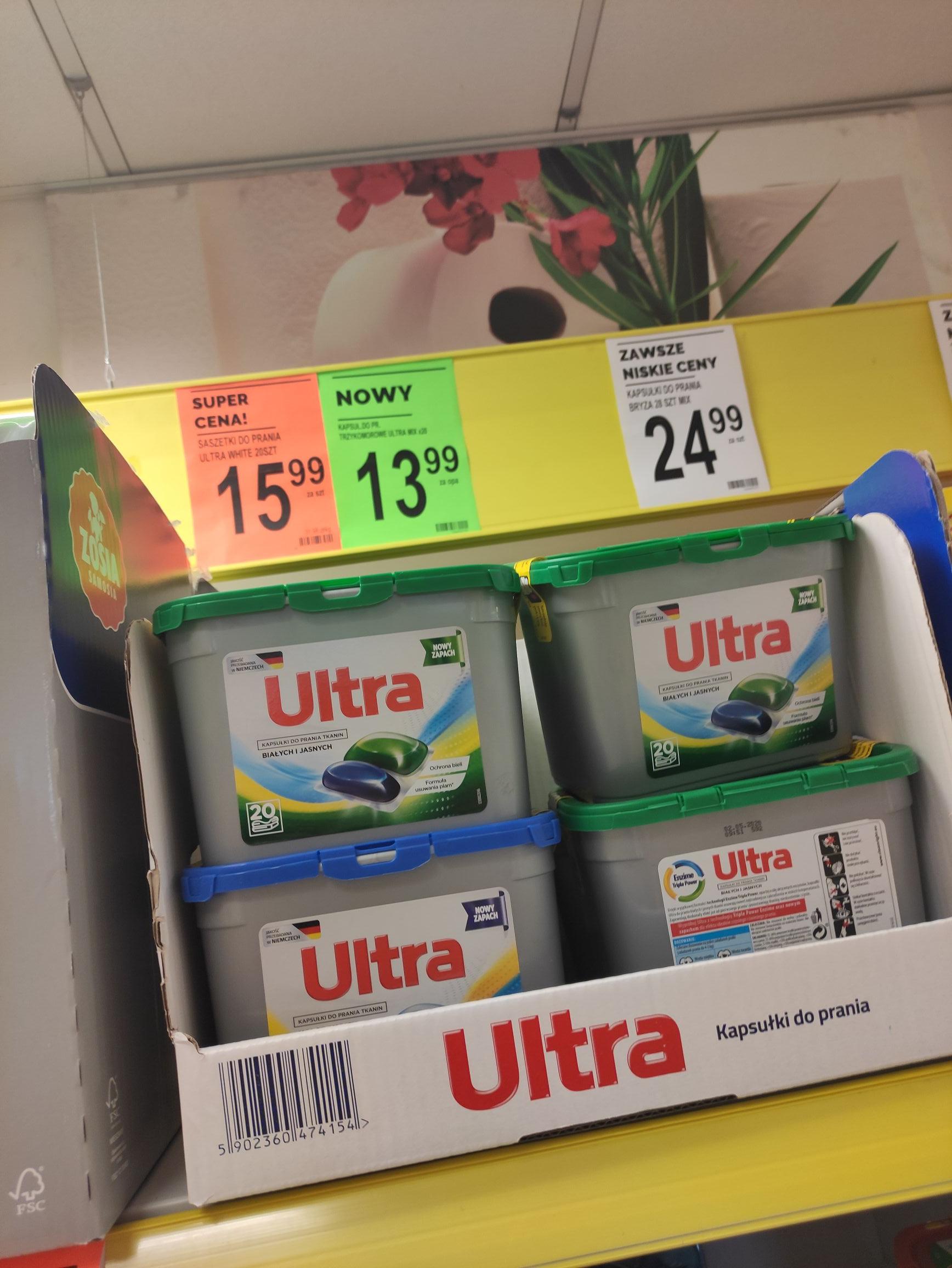 Kapsułki do prania Ultra 20 szt za 4.99zł - Biedronka