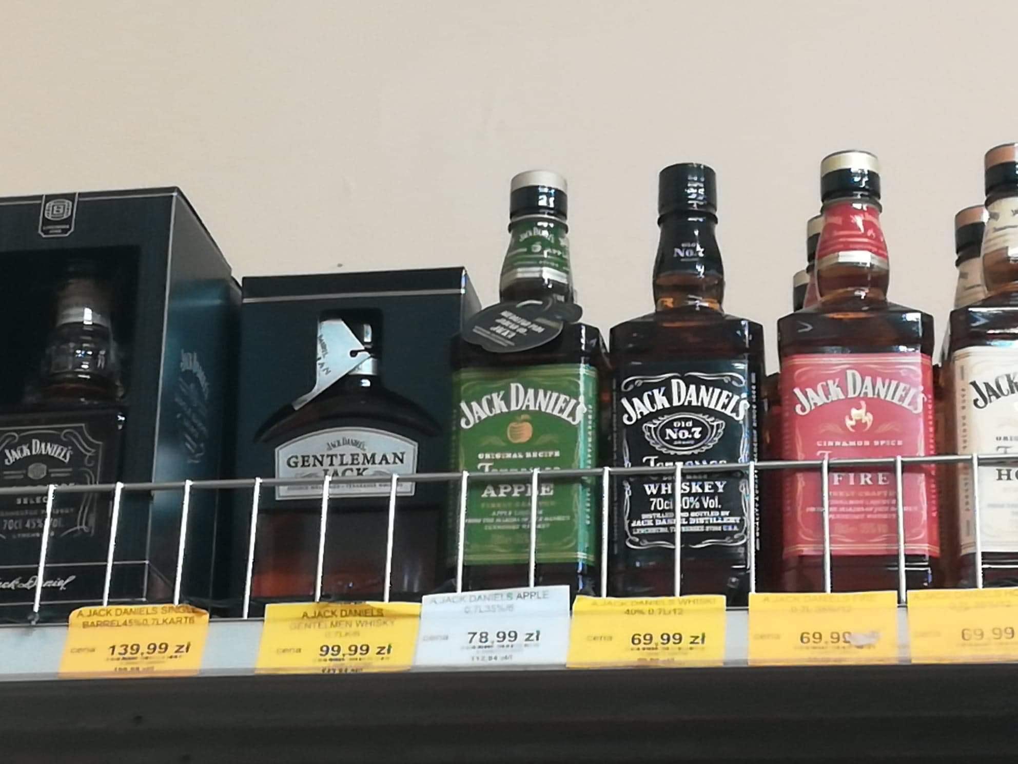 Ponownie dobre ceny za whisky/burbon Wild Turkey, Jack Daniels