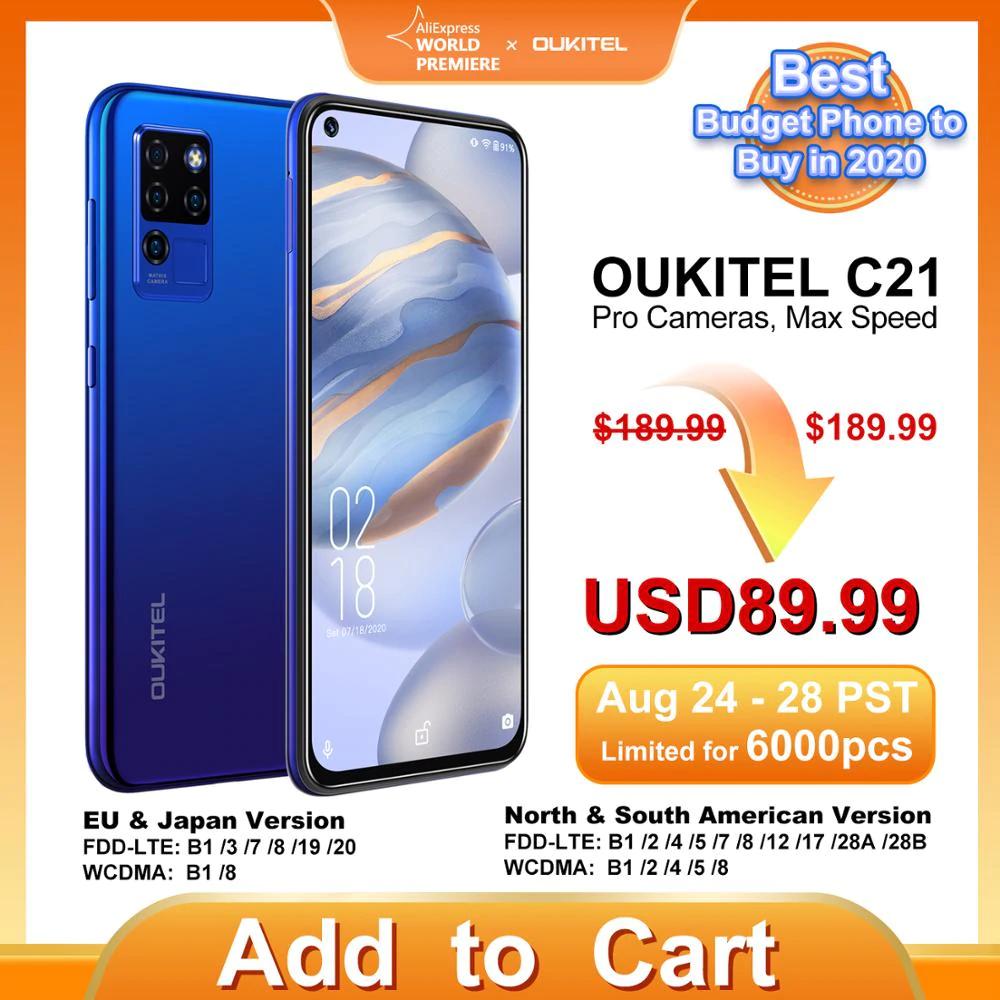 Smartphone Oukitel C21 - P60 (8x2GHz) Mali-G72 (800MHz) 4/64GB 6.4'' FHD 4000mAh 20MP - 94,04USD
