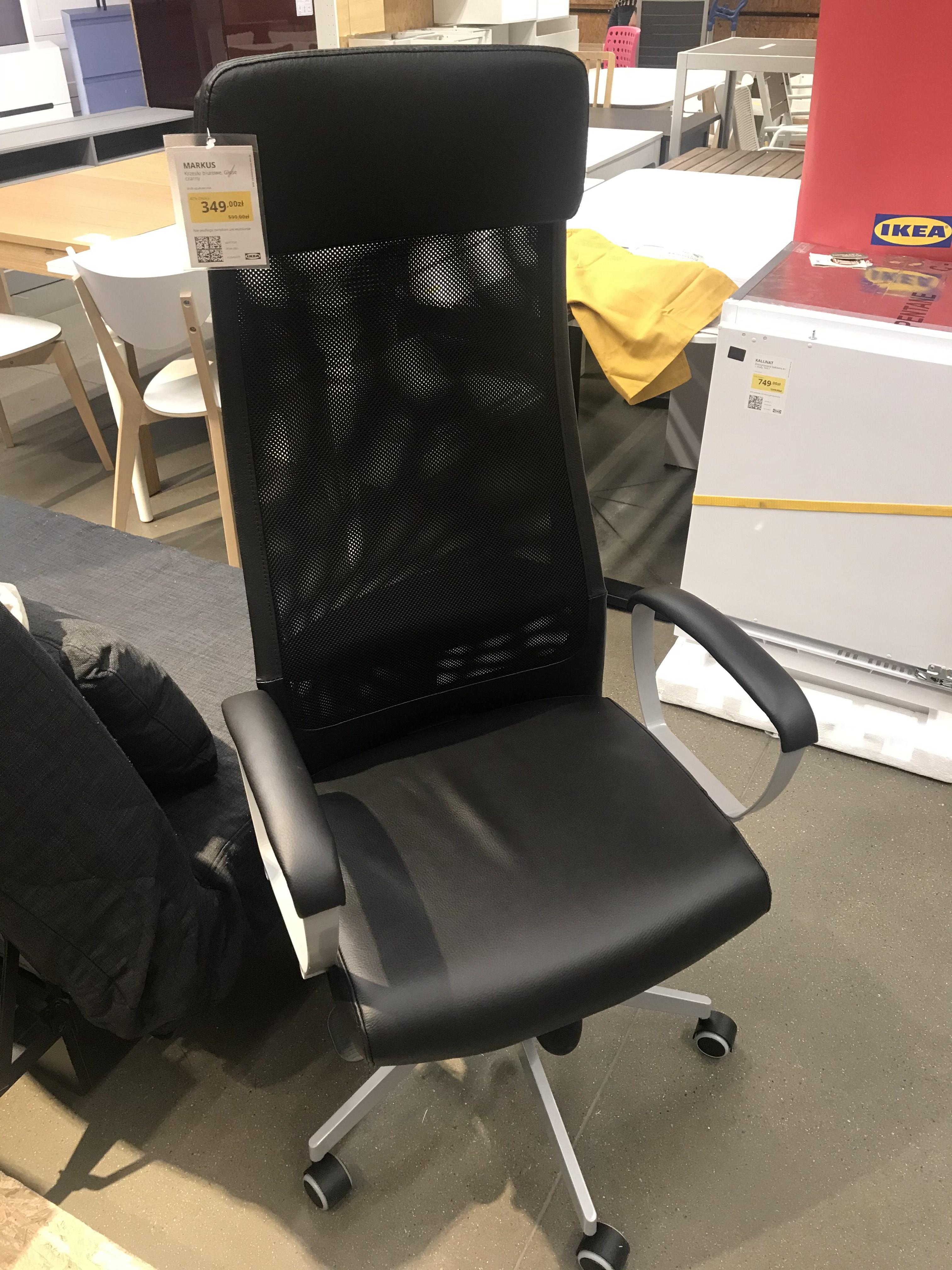 Krzesło Markus skórzane Ikea Gdańsk