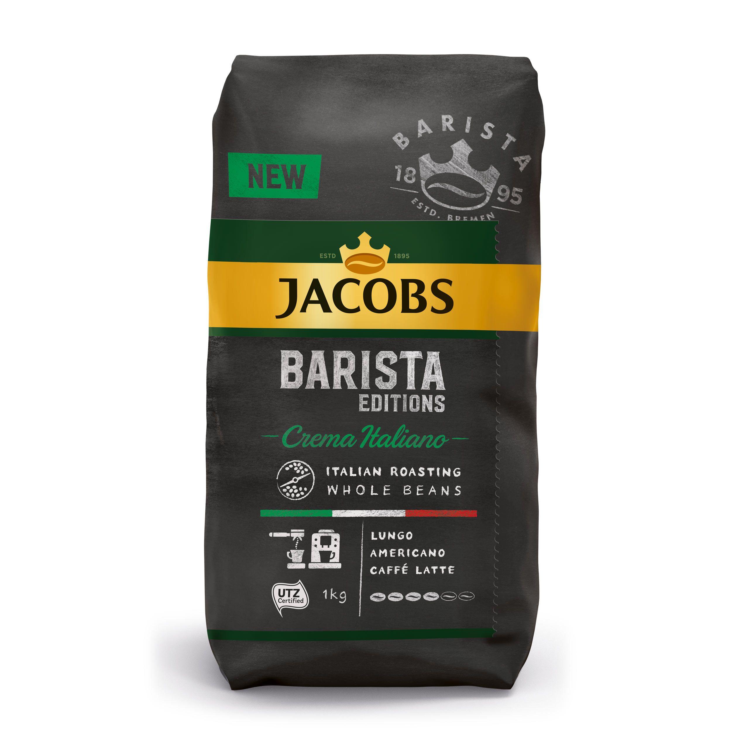 Jacobs Barista Editions, 1 kg, ziarnista - 39,99 zł. Intermarche. Espresso, Espresso Italiano, Crema, Crema Italiano.
