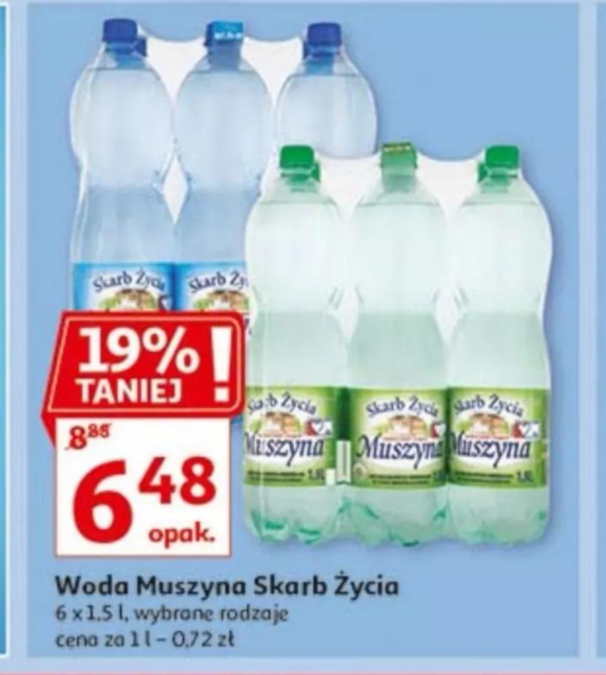 Woda Muszyna Skarb Życia 6x1.5l Auchan