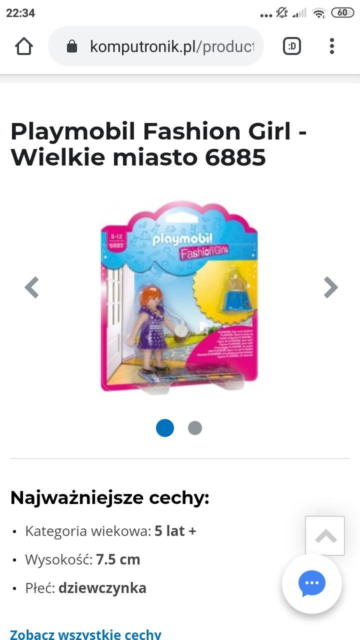 Figurki Playmobil Fashion Girl - Wielkie miasto 6885