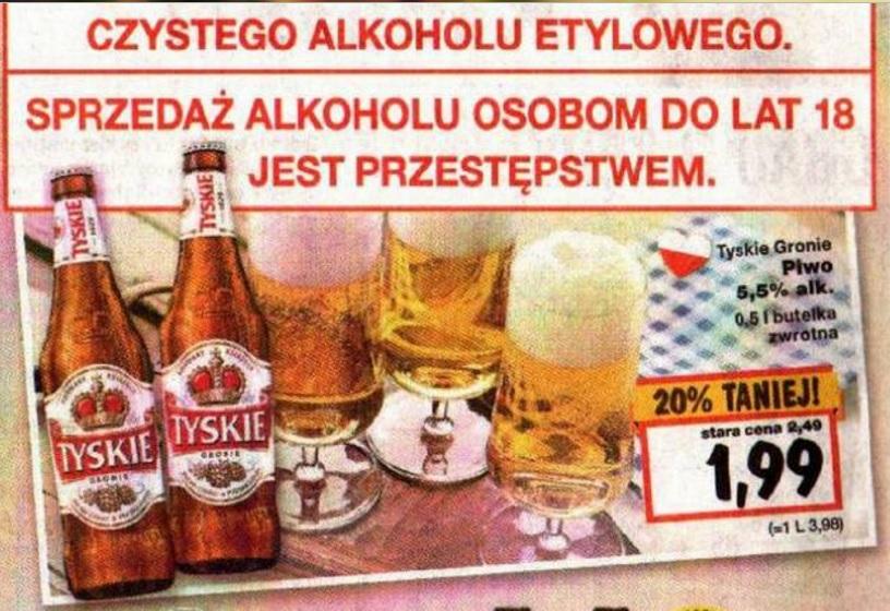 Piwo Tyskie 500ml @Kaufland