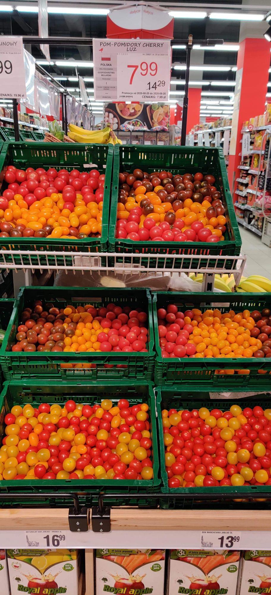Pomidorki cherry, różne rodzaje @Auchan