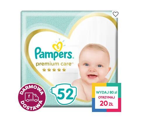 Promocja na pieluchy Pampers Premium Care + 20zł zwrotu Everydayme @ Frisco