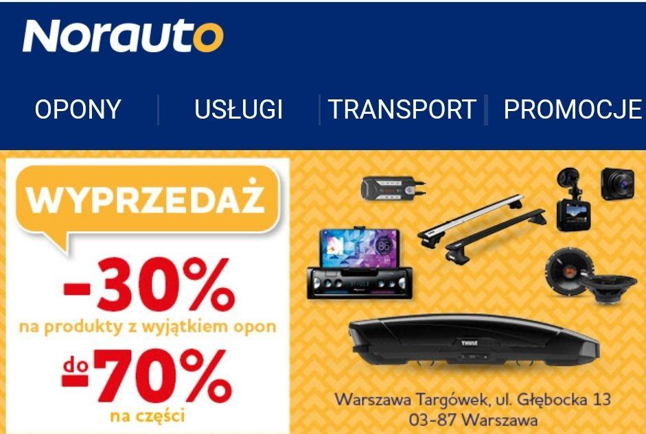 Norauto CH Targówek - wyprzedaż, likwidacja sklepu
