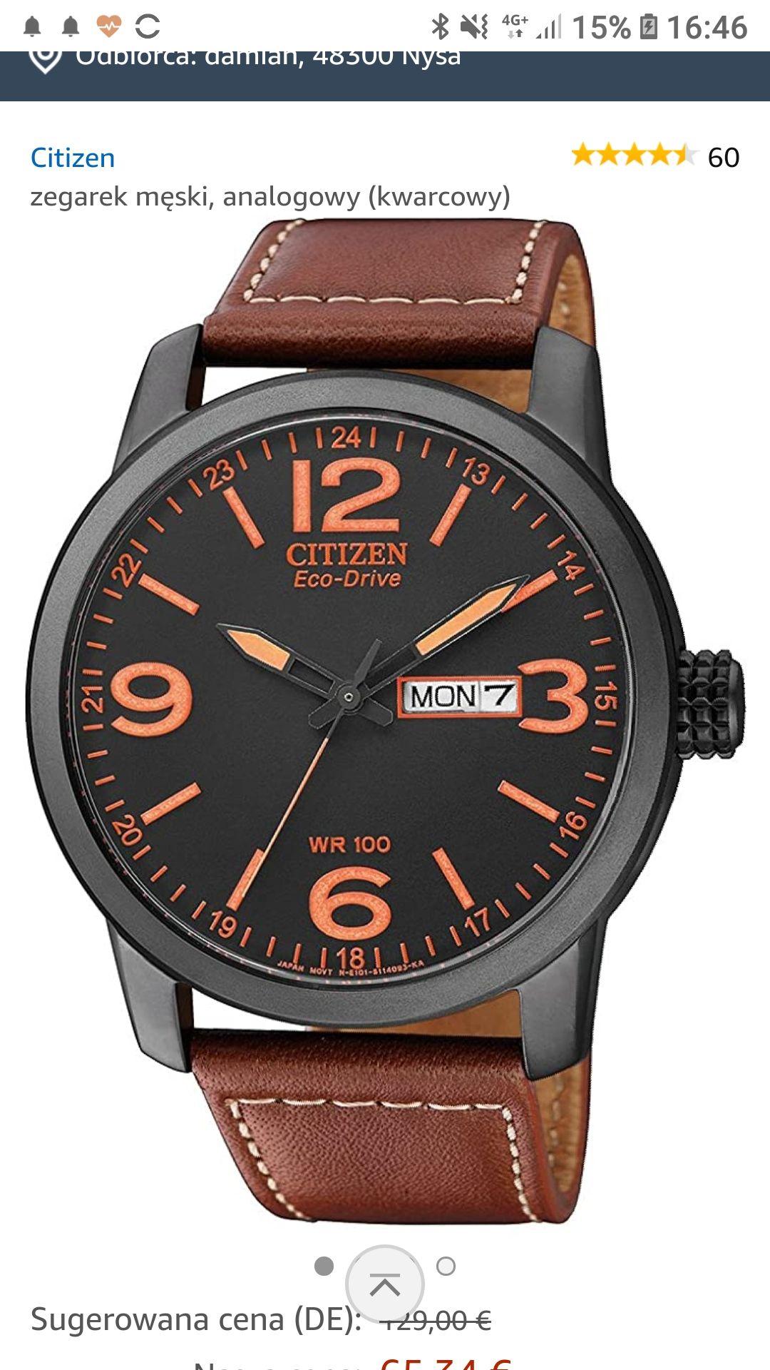 Citizen Eco-drive zegarek €69,29