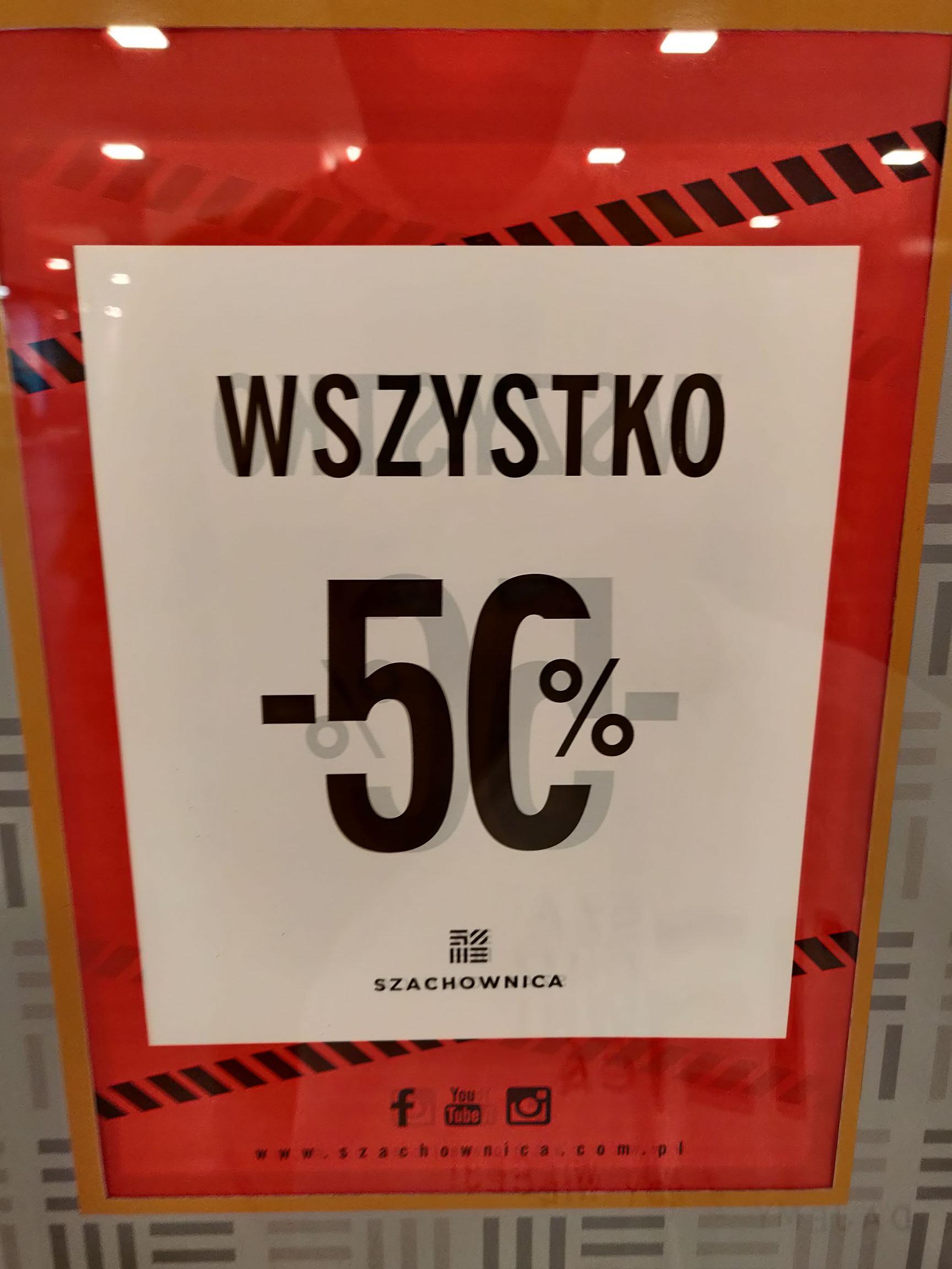 Szachownica - likwidacja sklepu Renoma Wrocław stacjonarna wyprzedaż