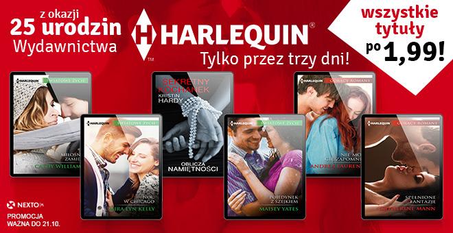 Ebooki wydawnictwa Harlequin po 1,99zł @ Nexto