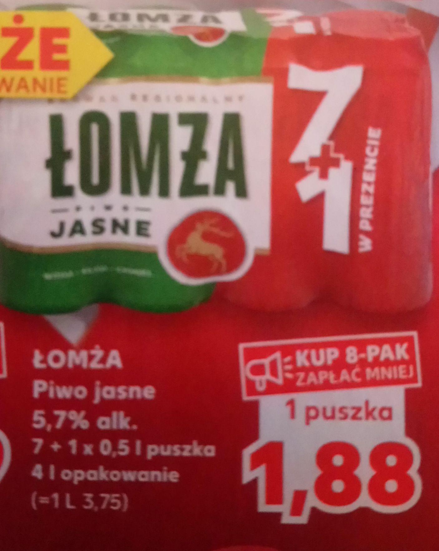 Piwo Łomża Jasne 5,7% 0,5lx8 puszka 1,88 Kaufland