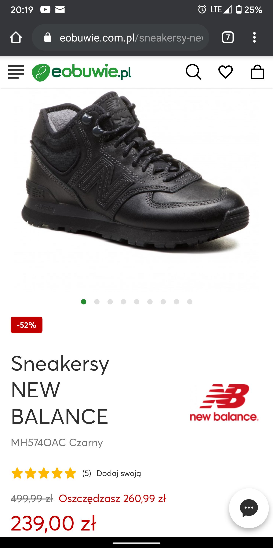 Buty Sneakersy NEW BALANCE MH574OAC Czarny