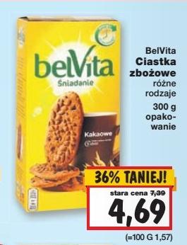 Zbożowe ciastka BelVita w przecenie z 7,39zł na 4,69zł @ Kaufland